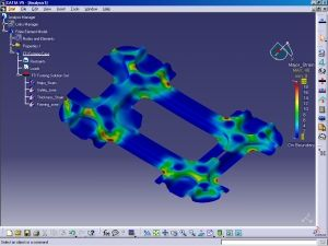 Forming analysis in CATIA V5 using CATFORM